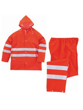 Echipamente de Protectie - Costum de ploaie reflectorizant 604